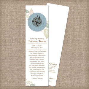 Crafter Memorial Bookmarks