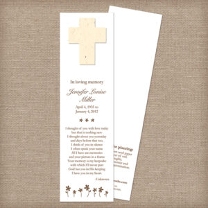 cross memorial bookmarks