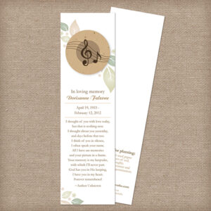 Musical Memorial Bookmarks