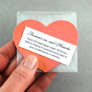 With these plantable memorial favors, you'll offer friends and family the opportunity to grow symbolic wildflowers as a lasting memento of the one you'll never forget.