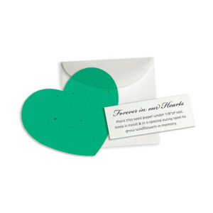 These Heart Note Plantable Wedding Favors will grow wildflowers when your guests plant them.