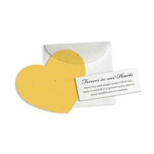 With these plantable Forever In Our Hearts Memorial Favors, you'll offer friends and family the opportunity to grow symbolic wildflowers as a lasting memento of the one you'll never forget.