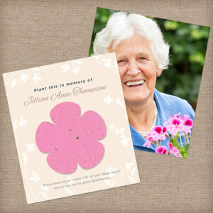 The Eternal Blossoms Photo Memorial Seed Cards will provide those grieving with a photograph keepsake of their loved one along with a symbolic seed paper flower to plant in memory.