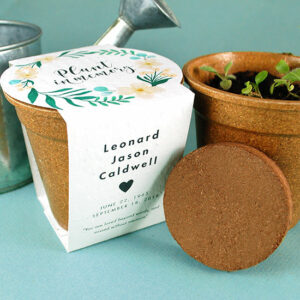 These beautiful Wildflower Memorial Planting Kits that feature seed paper you can plant in memory of a loved one.