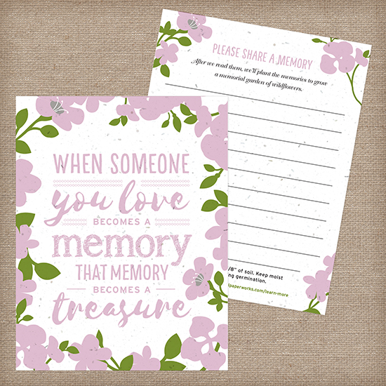 These Memory Garden Memorial Seed Cards are a truly heartwarming way to celebrate their life in a way that is eco-friendly and meaningful.