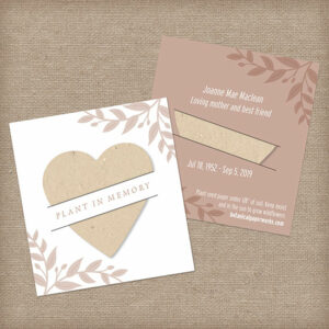 Share a sweet token to plant in memory of your loved one with these unique memorial favors.