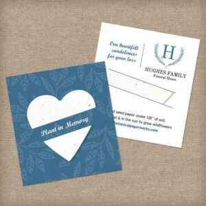 Plantable Heart Mini Slot Card Sympathy Gifts