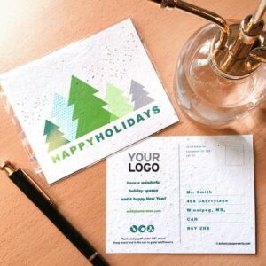 Modern Trees Plantable Holiday Postcards
