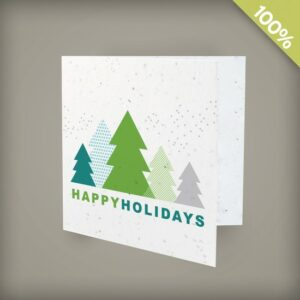 Simple and modern, these unique square seed paper holiday cards are embedded with seeds and will help your brand get noticed this holiday season.