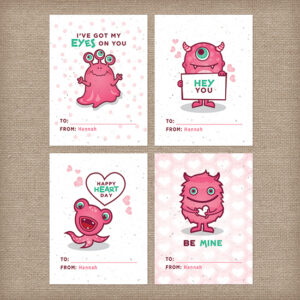 Personalize these seed paper valentines with your childs name to give and grow wildflowers with every card.