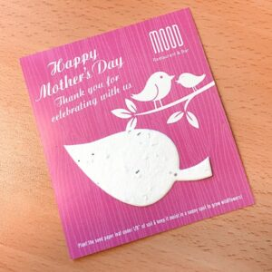 Mother's Day Eco Leaf Flat Card