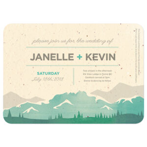 These Mountain Seed Paper Wedding Invitations grow wildflowers when planted.