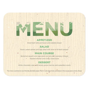 Plant these Mountain Seed Paper Menu Cards to grow fresh and delicious carrots.