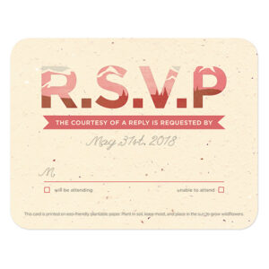 These Mountain Seed Paper Reply Cards are made with eco-friendly materials.