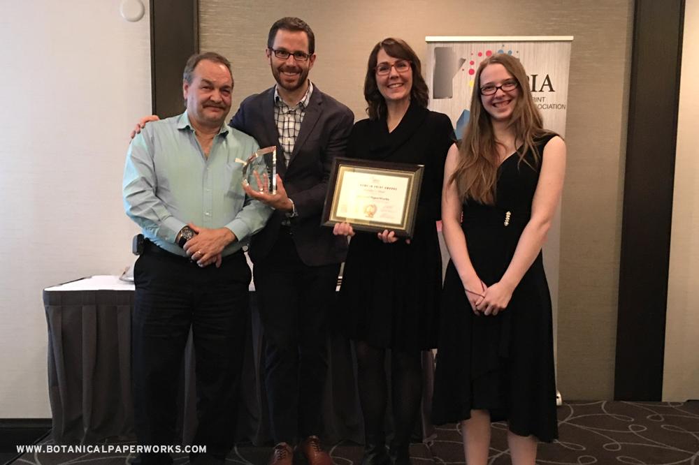 Botanical PaperWorks Receives Innovation In Print Award!