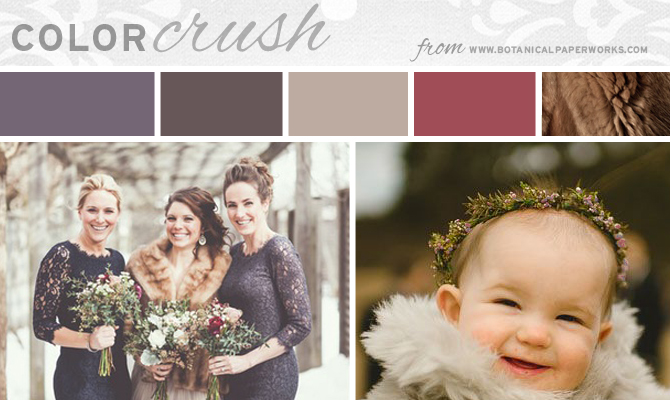 Winter Warmth Wedding Colors Inspiration Board