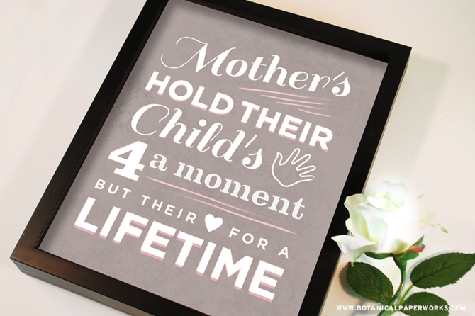 {free printable} Mother's Day Quote Wall Art