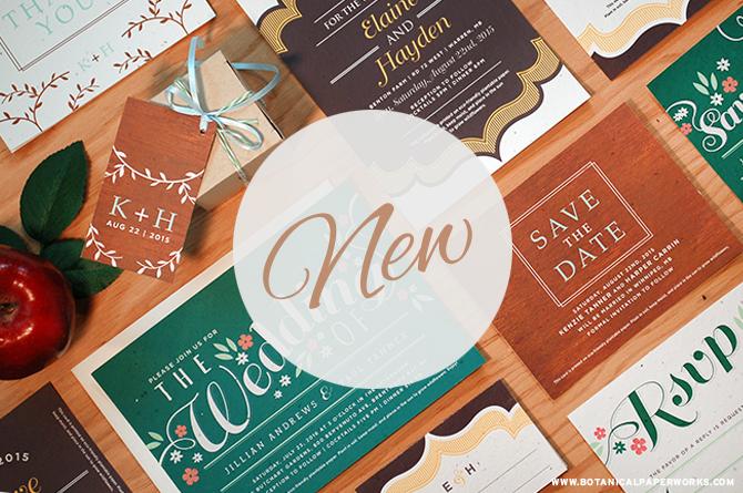 3 NEW Stylish Seed Paper Wedding Invitations