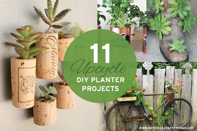 11 Upcycle DIY Planter Projects