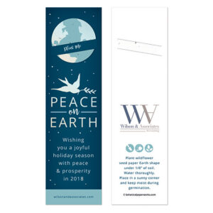 These Peace on Earth Holiday Bookmarks with Slot will send your holiday greetings in a fun way that offers a gift of appreciation.