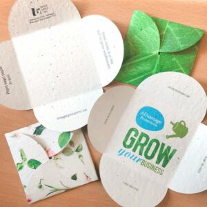 Made with post-consumer material embedded with seeds, recipients will love these Double-Sided Seed Paper Petal Cards that they can plant after to grow actual wildflowers.