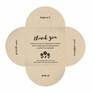 Give a blooming message of thanks to your friends and family with these unique Plantable Petal Card Favors.