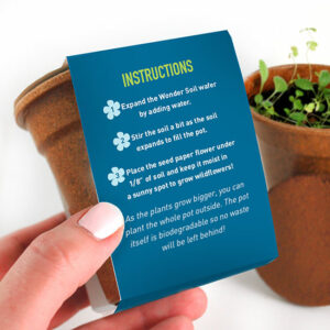 Celebrate the Earth with these  the Planet Seed Paper Sprouter Kits that feature a wildflower seeded Earth shape printed with your logo.