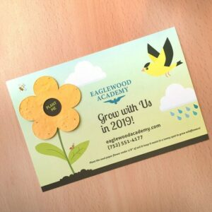 Perfect for spring and summer promotions, this fun card is ready-to-order so you can save time.