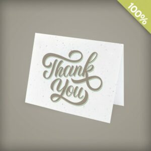 Fun Script Plantable Business Thank You Cards