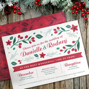 These Plantable Christmas Wedding Invitations are perfect for events during the holiday season.