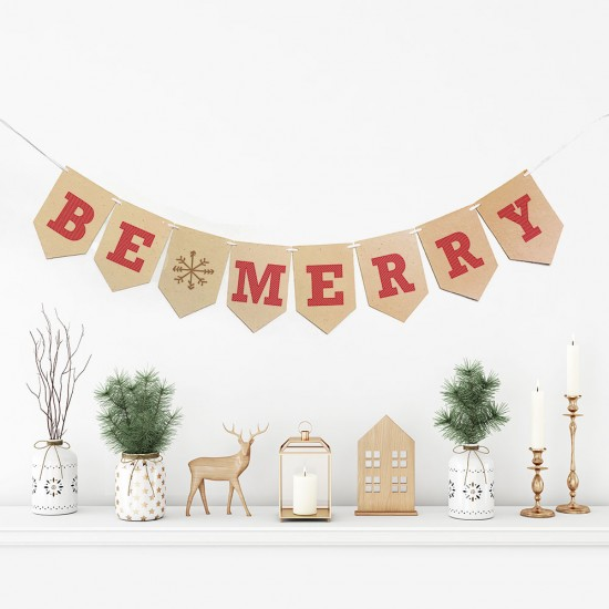 Add a festive touch your home without producing any waste with this BE MERRY holiday bunting banner that is 100% biodegradable and sprouts wildflowers.
