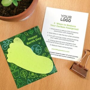 Add your logo and URL to this promotional card featuring eco tips on the back.