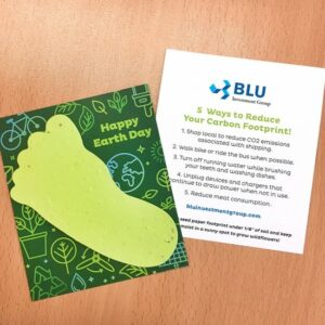 Plantable Footprint Eco Tips Flat Card