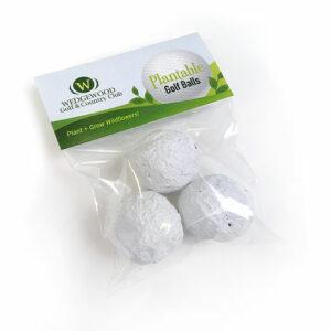 "Plantable Golf Balls"" Seed Bombs Cellopack 3"""""""
