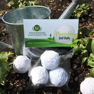 "Plantable Golf Balls"" Seed Bombs Cellopack"""""""