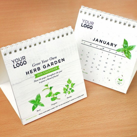 plantable calendars with embedded herb seeds that grow