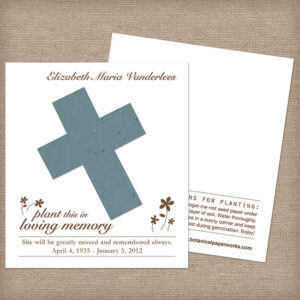 Cross seed memorial cards