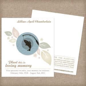 Fishing Memorial Cards