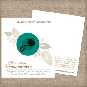 Gardener Memorial Cards
