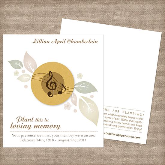 Musical Memorial Cards