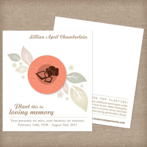 Photographer Memorial Cards