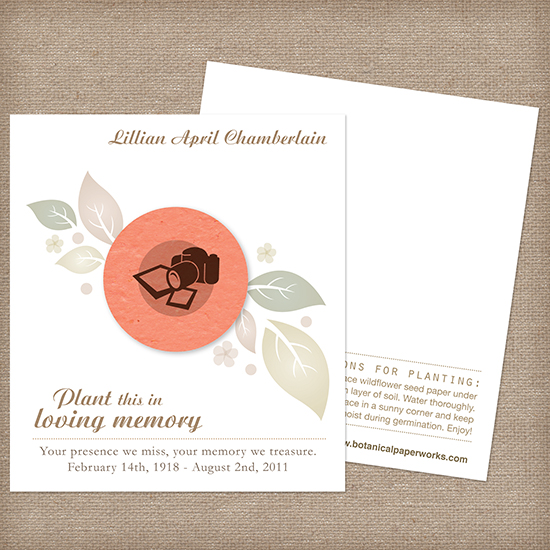 Photographer Memorial Cards