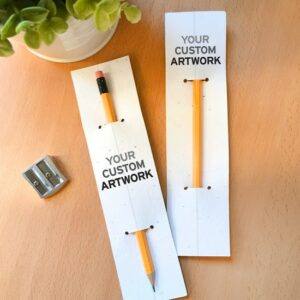 Add full-color, custom branded backers to a pencil promotion with seed paper pencil sleeves!