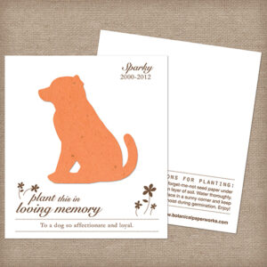 Plantable seed dog memorial cards