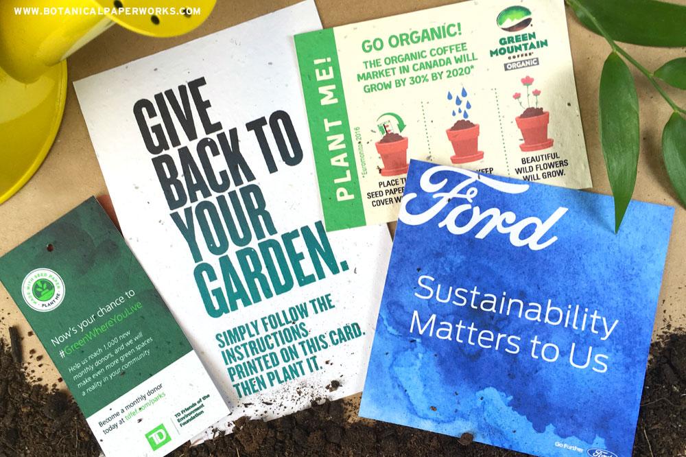 Umweltfreundliche pflanzbare Produkte