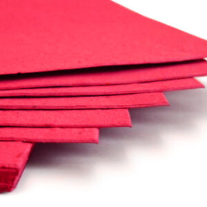 This eco-friendly 11 x 17 Bright Red Plantable Seed Paper is embedded with wildflower seeds.