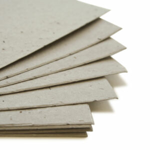 This eco-friendly 11 x 17 Dove Grey Plantable Seed Paper can be planted to grow wildflowers.