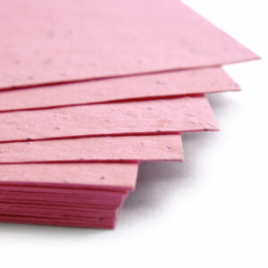 Grow wildflowers with this 11 x 17 Hot Pink Plantable Seed Paper.