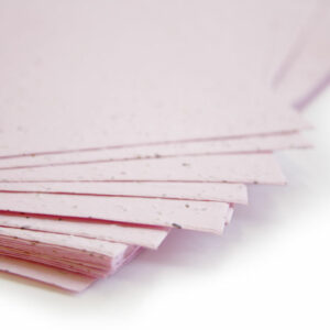 Plant this 11 x 17 Pastel Pink Plantable Seed Paper to grow wildflowers.