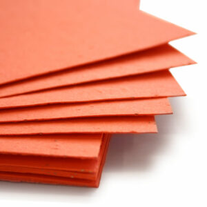 Plant this 11 x 17 Tangerine Plantable Seed Paper to grow wildflowers.